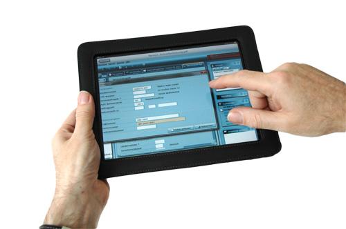 Tablet-PC mit Screen Service-Auftrag